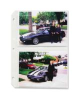 """C-Line Traditional Photo Holder - 4 Capacity - 5"""" x 7"""" - 3-Ring Binding - 3-Hole Punched - Refillable - Clear Polypropylene Cover"""""""