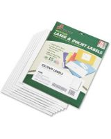 AbilityOne 7530015549538 SKILCRAFT Matte CD/DVD Label - 50 / Pack - Circle - 2/Sheet - Laser, Inkjet - White