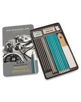 Prismacolor Premier Graphite Set - 8B, 6B, 4B, 2B, B, HB, 2H, 4H, 6H Pencil Grade - Graphite Lead - Turquoise Barrel - 18 / Pack