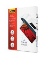 "Fellowes Glossy Pouches - 5 mil, Letter, 50 pack - Sheet Size Supported: Letter - Laminating Pouch/Sheet Size: 9"" Width x 11.50"" Length x 5 mil Thickness - Type G - Glossy - for Document - Durable - Clear - 50 / Pack"