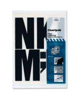 "Chartpak 01184 Press-On Uppercase Letter - 38 Capital Letters - Self-adhesive - 6"" Height - Black - Vinyl"