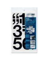 """Chartpak Permanent Adhesive Vinyl Numbers - 10 Numbers - Self-adhesive - 3"""" Height - Black - Vinyl"""