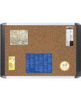 "MasterVision Teckcork Bulletin Board - 24"" Height x 36"" Width - Cork Cork Surface - Aluminum Frame - 1 Each"