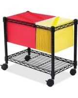 """Safco Wire Mobile File - 300 lb Capacity - 4 Casters - 2"""" Caster Size - Steel - 14"""" Width x 24"""" Depth x 20.5"""" Height - Black"""