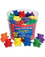 Three Bear Family Counters Rainbow Set - Learning Theme/Subject - 96 Bear - Assorted - Plastic - 96 / Set