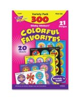 Trend Colorful Favorites Stinky Stickers Variety Pack - Self-adhesive - Acid-free, Non-toxic, Photo-safe - Assorted - 1 / Pack