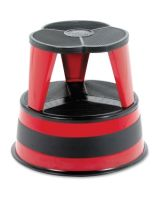 "Cramer Kik-Step 1001 Rolling Step Stool - 500 lb Load Capacity - 14"" - Red"