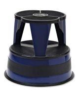 "Cramer Kik-Step 1001 Rolling Step Stool - 500 lb Load Capacity - 14"" - Blue"