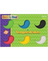 ChenilleKraft Tempera Cake - 6 / Set - Red, Yellow, Blue, Green, White, Black