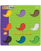 ChenilleKraft Tempera Cake - 9 / Set - Assorted, Yellow, Green, White, Black, Brown, Purple, Orange