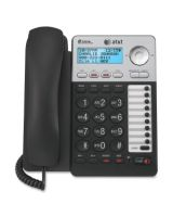 AT&T ML17929 Standard Phone - Silver - Corded - 2 x Phone Line - Speakerphone - Backlight