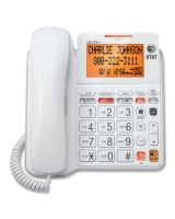 AT&T CL4940 Standard Phone - White - Corded - 1 x Phone Line - Speakerphone - Answering Machine