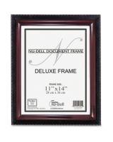 "Nu-Dell Document Frame - Holds 11"" x 14"" Insert - Rectangle - Desktop, Wall Mountable - Vertical, Horizontal - Soft Gloss - Easel Back, Break Resistant, Durable - Wood, Plastic - Mahogany Black"