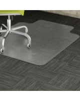 "Lorell Low-pile Carpet Chairmats - Carpeted Floor - 53"" Length x 45"" Width x 0.11"" Thickness - Lip Size 12"" Length x 25"" Width - Vinyl - Clear"
