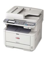 "Oki MB401 MB471W LED Multifunction Printer - Monochrome - Plain Paper Print - Desktop - Copier/Fax/Printer/Scanner - 35 ppm Mono Print - 1200 x 1200 dpi Print - 33 cpm Mono Copy - 3.5"" LCD - 600 dpi Optical Scan - Automatic Duplex Print - 350 sheets Inpu"