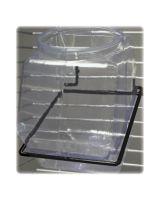 Baumgartens Black 1-Tub Bracket for Power Wings - 99981 - 1 x Jar - Wall Mountable - Black - Steel - 1Each