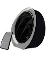 "Bionaire BFF1222AR-BM Remote Control Power Fan - 12"" Diameter - 3 Speed - Remote, Oscillating, Timer-off Function, LED, Retractable Cord, Carrying Handle, Louver Rotation - 16.2"" Height x 6.9"" Width - Black"