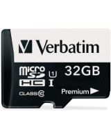 Verbatim 32GB Premium microSDHC Memory Card with Adapter, UHS-I Class 10 - Class 10 - 1 Card/1 Pack