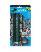 Prismacolor Scholar Graphite Drawing Set - 6B, 4B, 2B, 2H, 4H Pencil Grade - Assorted Lead - 9 / Pack