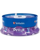 Verbatim AZO DVD+R 4.7GB 16X with Branded Surface - 25pk Spindle - 2 Hour Maximum Recording Time