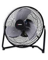 Lorell 2-Speed Heavy Metal Fan - 228.6 mm Diameter - 2 Speed - Adjustable Angle, Durable - Metal - Black
