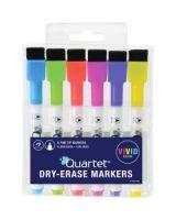 Quartet® ReWritables® Mini Dry-Erase Markers - Ultra Fine Point Type - Yellow, Bright Purple, Lime Green, Orange, Cyan, Magenta - 6 / Set