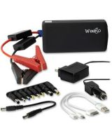 Weego Heavy Duty Jump Starter Battery+ - Jump Start Gas & Diesel Engines - Recharge Mobile Devices, 12V/19V Accessories & Laptops - 12V Lithium Polymer - 12000 mAh - Fits in Your Pocket!