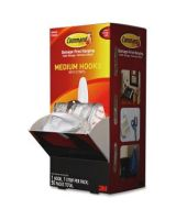Command Designer Hooks in a Cabinet Pack, Medium, White, 3lb Capacity, 50 Pack - 3 lb (1.36 kg) Capacity - for Paint, Wood, Tile - Plastic - White - 50 / Carton