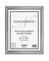 "Glolite Nu-dell Antique Silver Wood Frame - 8"" x 10"" Frame Size - Horizontal, Vertical - Easel Back - Wood, Glass - Antique Silver"