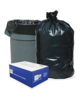 "AEP Trash Bag - 56 gal - 43"" Width x 47"" Length x 0.80 mil (20 Micron) Thickness - Low Density - Black - 100/Carton"