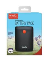 Weego Tour 10400 Battery Pack - For Smartphone, Tablet PC, Portable Speaker, USB Device - Lithium Ion (Li-Ion) - 10400 mAh - 2.10 A - 5 V DC Output - 2 x - Black