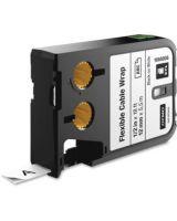 "Dymo XTL Flexible Cable Wrap Labels, 1/2"" - 0.50"" Width x 18.04 ft Length - Thermal Transfer - White - Nylon - 1 / Box"