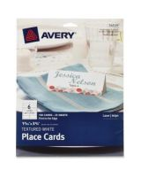 "Avery Tent Card - 3.75"" x 1.44"" - Textured - 150 / Pack - White"
