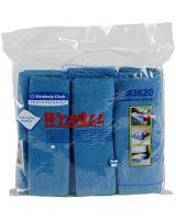 "Wypall Bathroom Cleaner - Cloth - 15.75"" Width x 15.75"" Length - 24 / Carton - Blue"