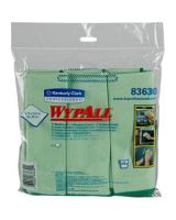 "Wypall Glass Cleaner - Cloth - 15.75"" Width x 15.75"" Length - 24 / Carton - Green"