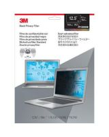 """3M Wide-screen Laptop Privacy Filter Translucent, Black - For 12.5""""Notebook, Monitor"""