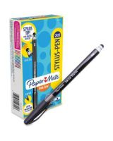 Paper Mate 2-in-1 InkJoy Stylus Pen - Rubber - Black