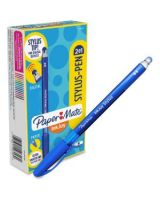 Paper Mate 2-in-1 InkJoy Stylus Pen - Rubber - Blue