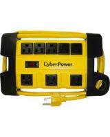 CyberPower DS806MYL Heavy Duty Power Strip - NEMA 5-15P - 8 x NEMA 5-15R - 6 ft Cord - 125 V AC Voltage - Yellow
