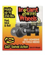 "Master Instant Swivel Wheels - 1.63"" Diameter - 250 lb Load Capacity - Black"