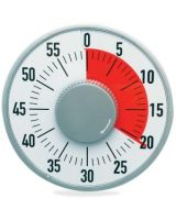 "Ashley 6-1/4"" Timer - 1 Hour - Desktop - For Testing, Game, Classroom - Gray, White"