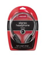 Maxell HP-100 Lightweight Stereo Headphone - Stereo - Black - Mini-phone - Wired - 20 Hz 20 kHz - Nickel Plated - Over-the-head - Binaural - Supra-aural - 4 ft Cable