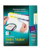 "Avery 5-Colored Tabs Presentation Divider - 5 x Divider(s) - Print-on Tab(s) - 5 Tab(s)/Set - 8.50"" Divider Width x 11"" Divider Length - Letter - 3 Hole Punched - Assorted Tab(s) - 5 / Pack"