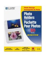 """C-Line 3-Hole Polypropylene Photo Protector - 4 Capacity - 6"""" x 4"""" - 3-ring Binding - 3-Hole Punched"""""""