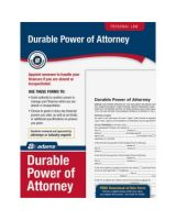 Adams Durable Power of Attorney Forms - Legal Form - 1 - PC, Mac - Forms and Instructions