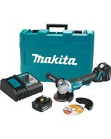 Makita XAG06MB 18 Volt LXT Lithium-Ion 4-1/2 in. Paddle Switch Cut-Off/Angle Grinder Kit