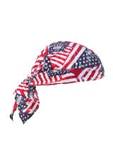 Chill-Its 6710Ct Evap. Cooling Triangle Hat W/Ct Stars & Stripes (1 Each)