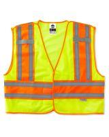 Glowear 8245Psv Type P Class 2 Public Safety Vest 4XL/5XL Lime (1 Each)