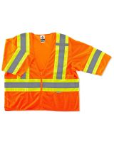 Glowear 8330Z Type R Class 3 Two-Tone Vest 4XL/5XL Orange (1 Each)