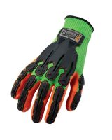 Proflex 920 Nitrile-Dipped Dorsal Impact-Reducing Gloves 2XL Lime (1 Pair)